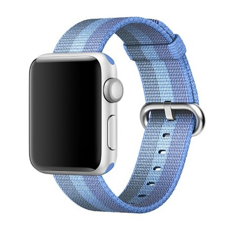 Nylon Apple watch 42mm bandje - blauw / licht blauw