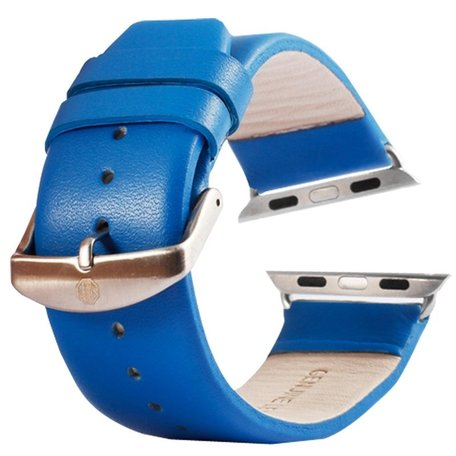 Kakapi Apple watch bandje 38mm leer - Blauw