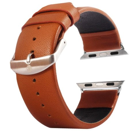 Kakapi Apple watch bandje 42mm leer - Bruin