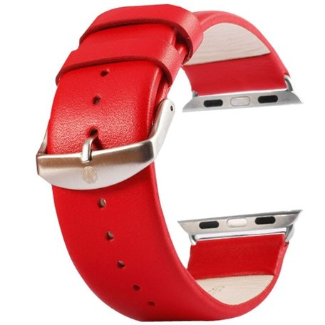 Kakapi Apple watch bandje 42mm leer - Rood