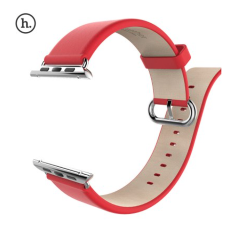 HOCO Apple watch bandje 42mm leer - rood