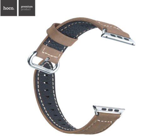 Hoco Apple watch bandje 38mm leer - Bruin