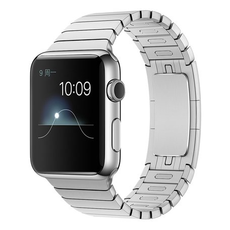Schakelarmband Apple watch 42mm stainless steel bandje - zilver