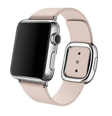 Apple watch modern lederen band 42mm - roze