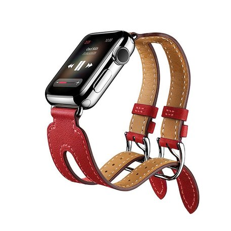 Kakapi Apple watch 38mm Double-buckle - Rood
