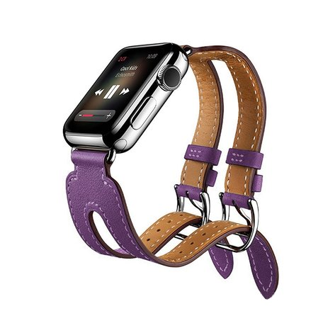 Kakapi Apple watch 38mm Double-buckle - Paars