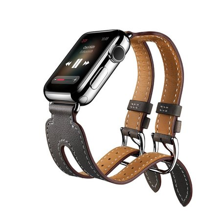 Kakapi Apple watch 42mm Double-buckle - Zwart