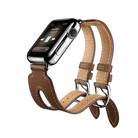 Kakapi Apple watch 42mm Double-buckle - Bruin