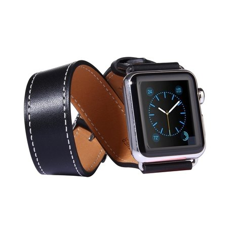 Apple watch 42mm double strap - zwart