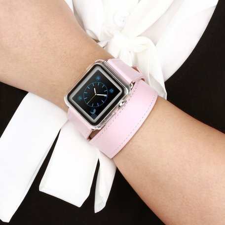 Apple watch 38mm / 40mm double strap - Roze