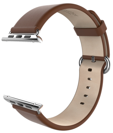 HOCO Apple watch bandje 38mm / 40mm leer - Coffee