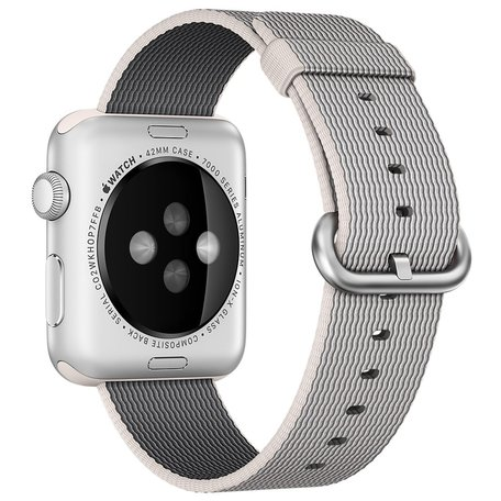 Nylon Apple watch 38mm / 40mm bandje - Grijs