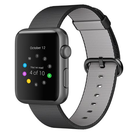 Nylon Apple watch 38mm / 40mm bandje - Zwart
