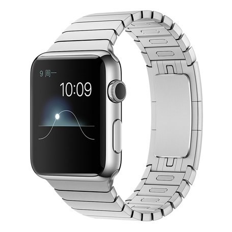 Schakelarmband Apple watch 38mm / 40mm stainless steel bandje - Zilver