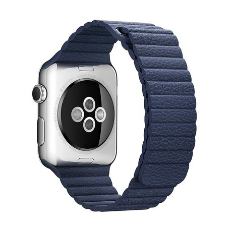 PU leather loop Apple watch 38mm / 40mm bandje - Blauw