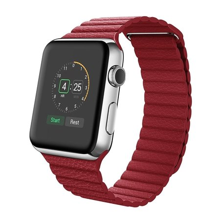 PU leather loop Apple watch 38mm / 40mm bandje - Rood