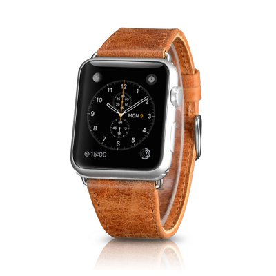 Classic Apple watch lederen band 42mm / 44mm - Licht bruin