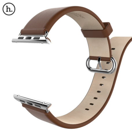 HOCO Apple watch bandje 42mm / 44mm leer classic - Coffee