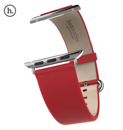 HOCO Apple watch bandje 42mm / 44mm leer classic - Rood