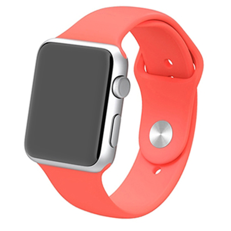 Apple watch 42mm / 44mm rubberen bandje sport - Magenta