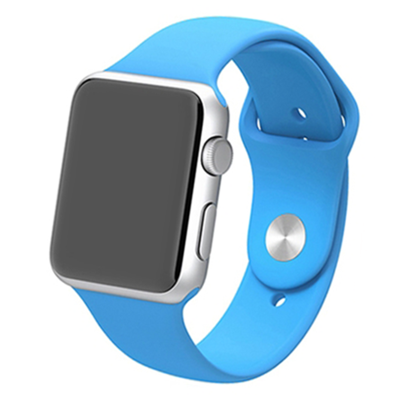 Apple watch 42mm / 44mm rubberen sport bandje - Blauw