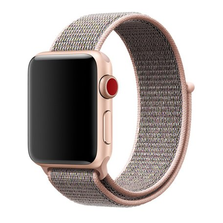 Sport loop Apple watch bandje 42mm / 44mm - Roze