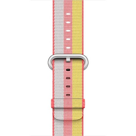 Nylon Apple watch 42mm / 44mm bandje - Rood / Geel