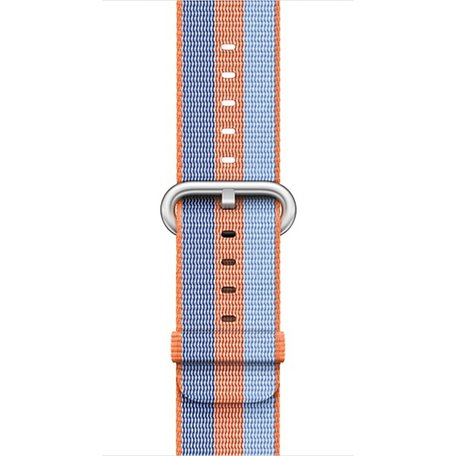Nylon Apple watch 42mm / 44mm bandje - Oranje / Blauw