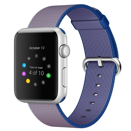 Nylon Apple watch 42mm / 44mm bandje - Paars