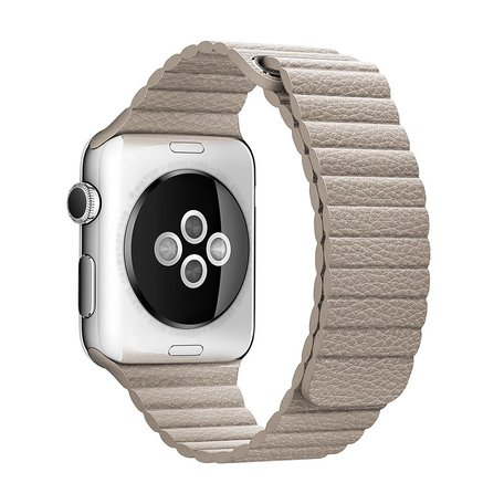 PU leather loop Apple watch 42mm / 44mm bandje - Licht bruin