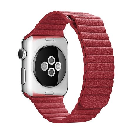 PU leather loop Apple watch 42mm / 44mm bandje - Rood
