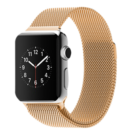Milanees Apple watch 42mm / 44mm bandje RVS - Goud