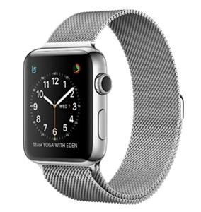 Milanees Apple watch bandje 42mm / 44mm RVS - Zilver