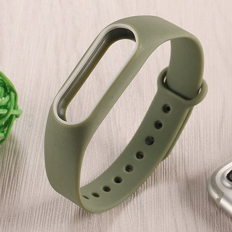 Xiaomi Mi band 2 DUO COLOR bandje voor CA0600B - Army green