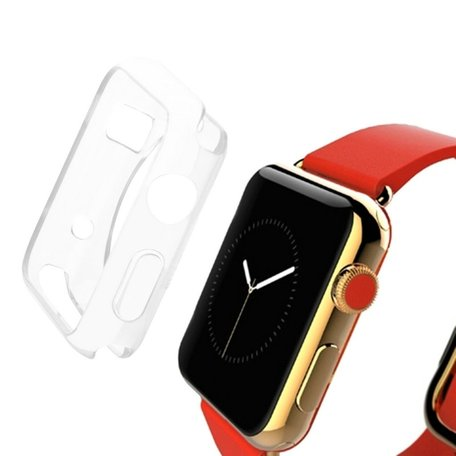 Apple watch 42mm siliconen case - transparant