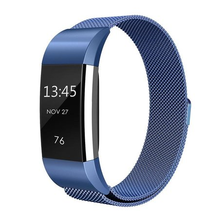 Fitbit Charge 2 milanese bandje (Small) - Blauw