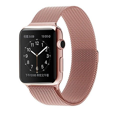Milanees Apple watch 42mm / 44mm bandje RVS - Rosé goud