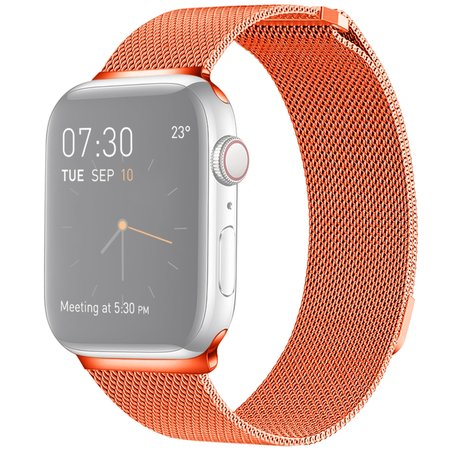 Milanees Apple watch bandje 42mm / 44mm RVS - Oranje