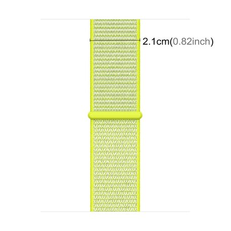 Sport loop Apple watch bandje 42mm / 44mm - Neon groen