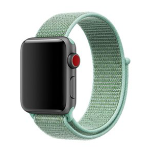 Sport loop Apple watch bandje 42mm / 44mm - Mintgroen