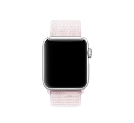 Sport loop Apple watch bandje 42mm / 44mm - Zacht roze