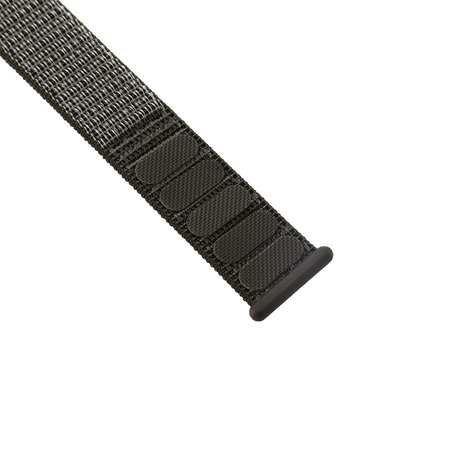 Sport loop Apple watch bandje 38mm / 40mm - Donker groen met grijze band