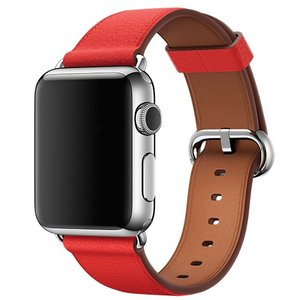 Apple watch classic lederen band 38/40mm - Rood