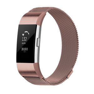 Fitbit Charge 2 milanese bandje (Large) - Rosé goud