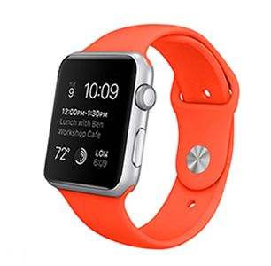 Apple watch 42mm / 44mm rubberen bandje sport - Oranje