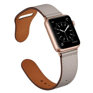 Lederen Apple Watch bandje 42mm / 44mm - Taupe