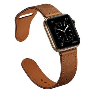 Lederen Apple Watch bandje 38mm / 40mm - Bruin