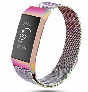Fitbit Charge 3 & 4 milanese bandje (large) - Colour