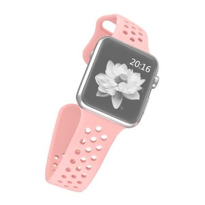 Apple watch holow edition sport band 42mm / 44mm - Roze