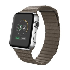 PU leather loop Apple watch 42mm / 44mm bandje - Bruin